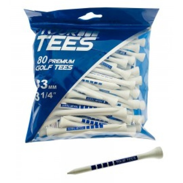 Bamboo Wood Tees 83mm pack 100