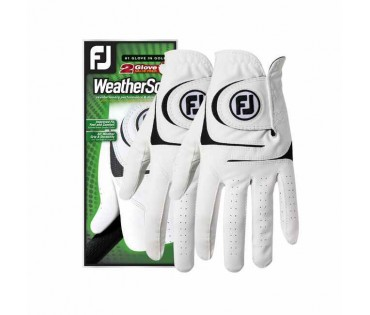 FootJoy Weathersof Mens LH 2 Gloves Value Pack White