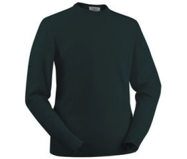 Glenbrae Lambswool Crew  Neck Sweater Tartan Green