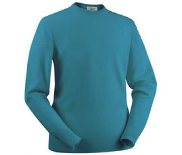 Glenbrae Lambswool Crew  Neck Sweater Ocean