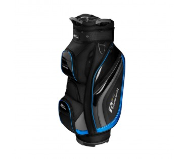 Powakaddy Premium Edition Cart Bag  Black Gun Metal Blue