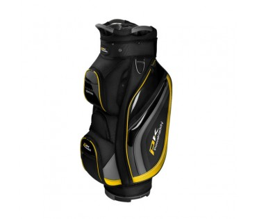 Powakaddy Premium Edition Cart Bag  Black Gun Metal Yellow