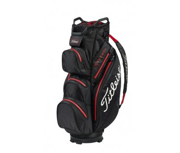 Titleist Stay Dry Cart Bag Black Red TB9CT7E-06