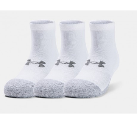 Under Armour Socks Lo-Cut 3 Pairs White 100