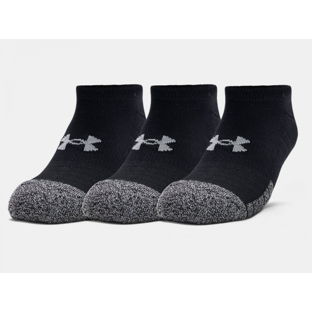 Under Armour Socks No Show 3 Pack Black 001