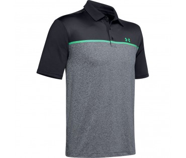 Under Armour Playoff Polo 2.0 Chest Engineered Black Pitch Gray-017